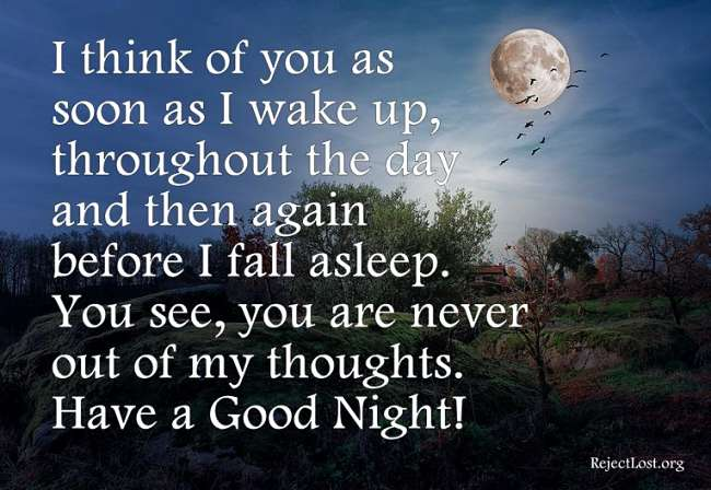 Good Night Sms For Her From Your Heart